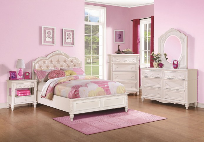 caroline diamond tufted youth platform bedroom set