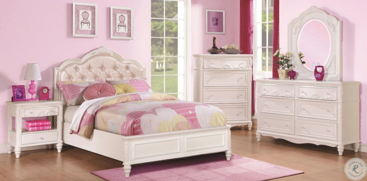 Caroline Diamond Tufted Youth Platform Bedroom Set