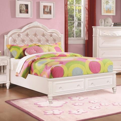Caroline Diamond Tufted Twin Storage Platform Bed