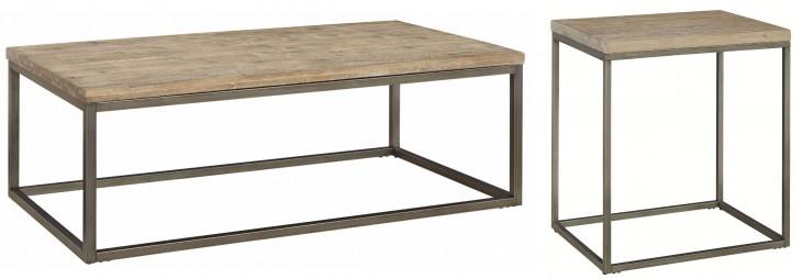 Alana Acacia Wood Top Occasional Table Set