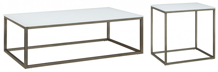 Alana Frosted Glass Top Occasional Table Set