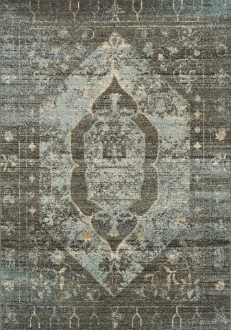 Casa Steel Distressed Traditional Hexagon  Large Rug