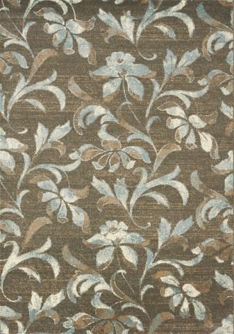 Casa Brown/Cream/Grey Flower Medium Rug