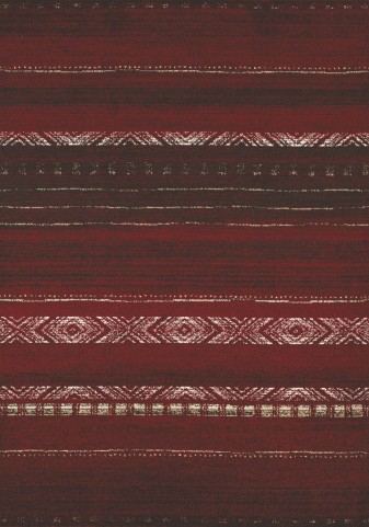 Casa Red/Brown/White Sweater Large Rug