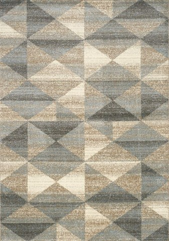 Casa Grey and Taupe Quilt Large Rug