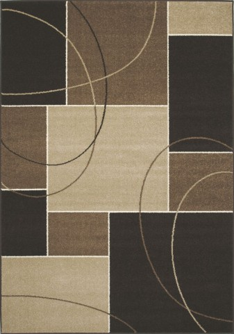 "Casa Familiar Charcoal Beige 94"" Rug"