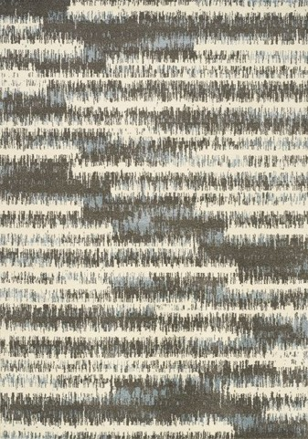 Casa Cream and Grey Pencil Stripes Medium Rug