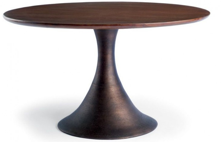 Casablanca Walnut Round Dining Table
