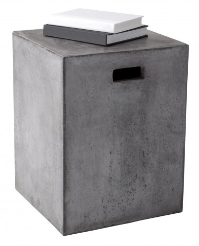 Castor Anthracite Grey End Table