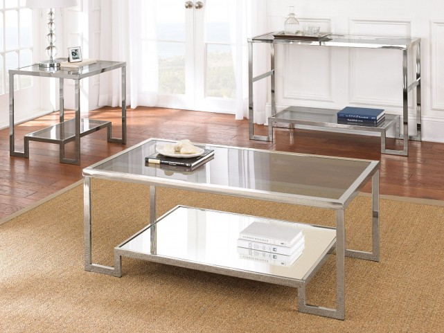 Churchill Glass Top Occasional Table Set
