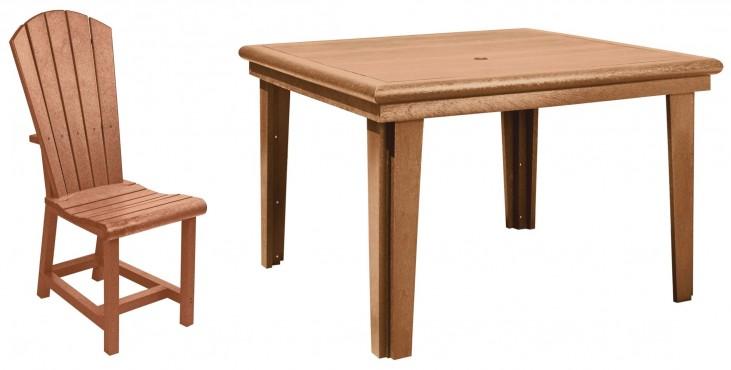 """Generations Cedar 46"""" Square Dining Room Set"""