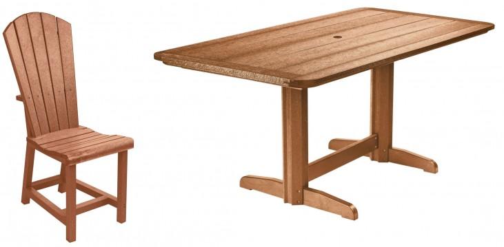 "Generations Cedar 36"" Double Pedestal Dining Room Set"