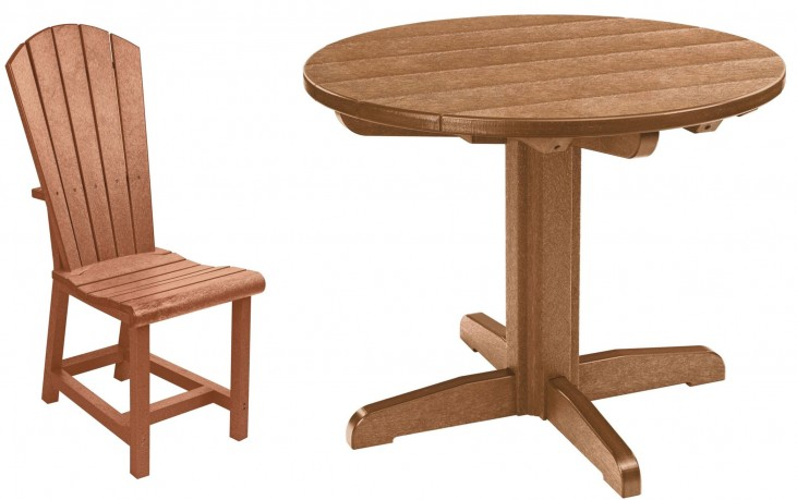 "Generations Cedar 32"" Round Pedestal Dining Room Set"