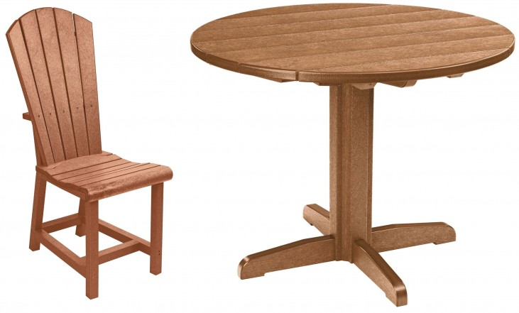 "Generations Cedar 37"" Round Pedestal Dining Room Set"