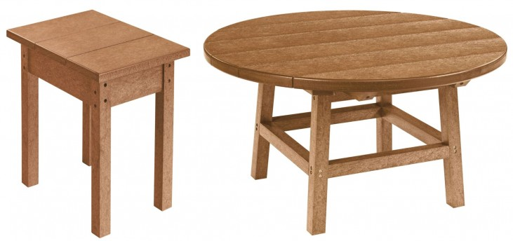 "Generations Cedar 32"" Round Occasional Table Set"