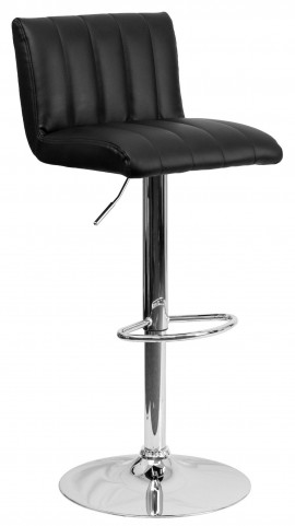 1000552 Black Vinyl Adjustable Height Bar Stool