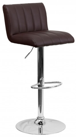 1000553 Brown Vinyl Adjustable Height Bar Stool