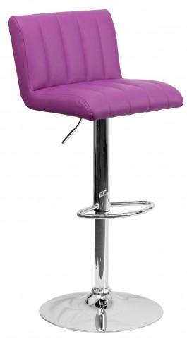 1000557 Purple Vinyl Adjustable Height Bar Stool