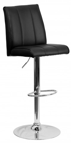 1000570 Black Vinyl Adjustable Height Bar Stool