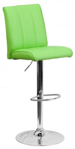 1000573 Green Vinyl Adjustable Height Bar Stool