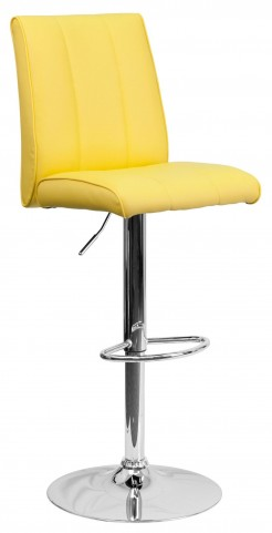 1000578 Yellow Vinyl Adjustable Height Bar Stool