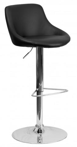 1000588 Black Vinyl Bucket Seat Adjustable Height Bar Stool