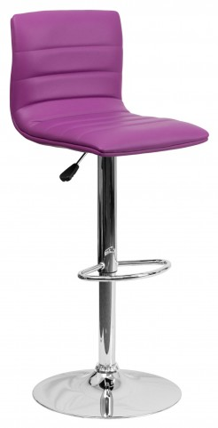1000611 Purple Vinyl Adjustable Height Bar Stool