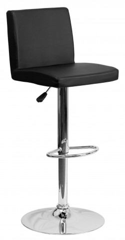 1000615 Black Vinyl Adjustable Height Bar Stool
