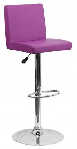 1000620 Purple Vinyl Adjustable Height Bar Stool