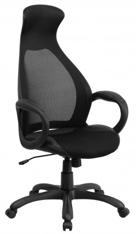 High Back Executive Inset Black Chair