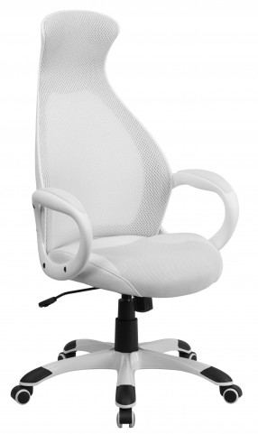 High Back Executive Inset White Chair