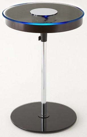 Charo Merlot Round Chairside End Table