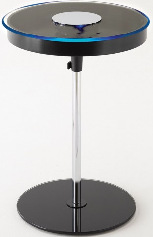 Charo Black Round Chairside End Table