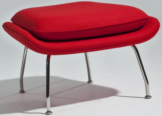 Modern Classics Newark Red Ottoman