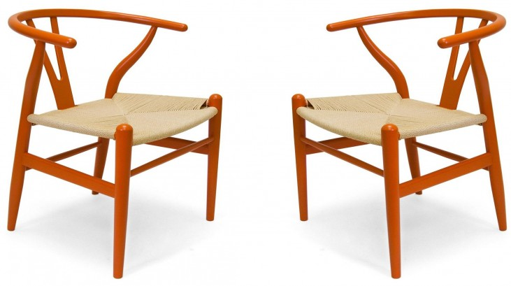 Modern Classics Albany Orange Chair Set of 2