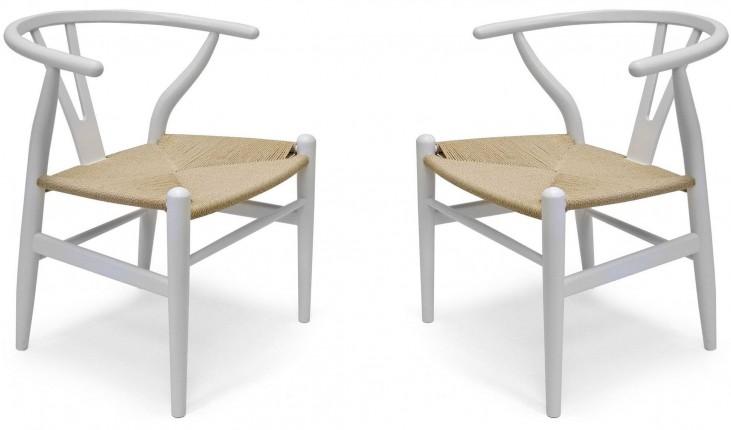 Modern Classics Albany White Chair Set of 2