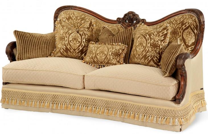 Chateau Beauvais Wood Trim Sofa