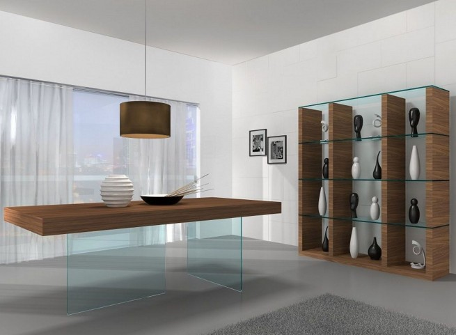 Elm Chestnut Rectangular Dining Room Set