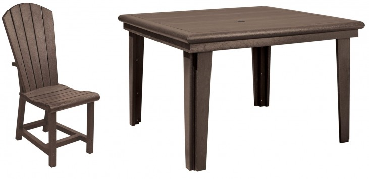 "Generations Chocolate 46"" Square Dining Room Set"