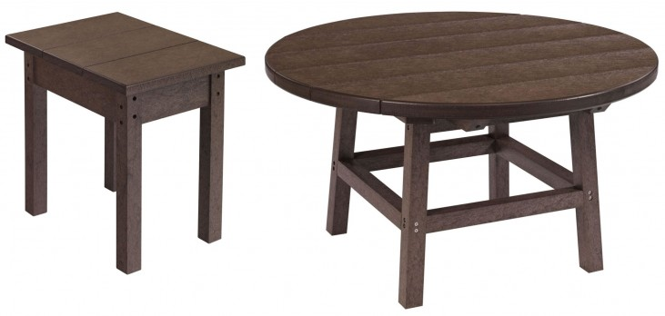"Generations Chocolate 32"" Round Occasional Table Set"