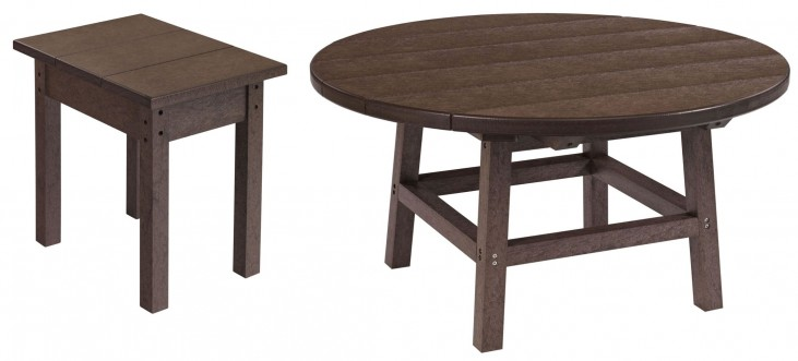 "Generations Chocolate 37"" Round Occasional Table Set"