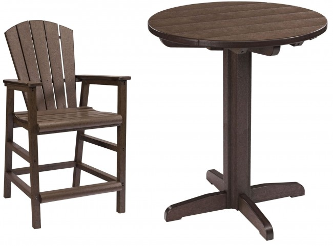 "Generations Chocolate 32"" Round Pedestal Pub Set"