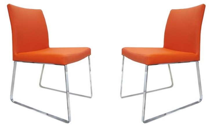 Chris Orange Dining Chair Set of 2