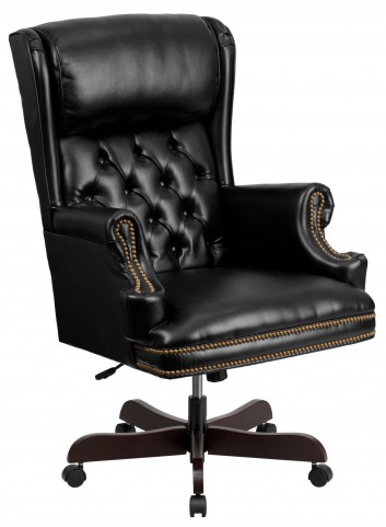J600 High Back Tufted Black Executive Office chair