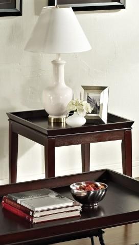 Clemson Merlot Cherry End Table