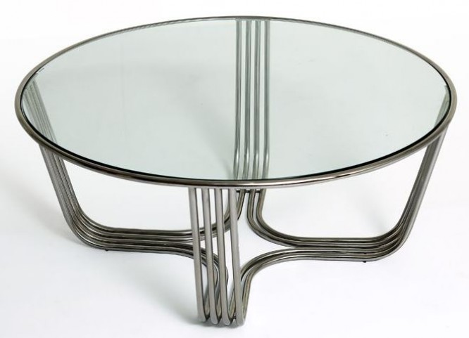 Clark Clear Glass Coffee Table