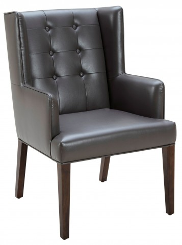 Clarkson Armchair Leather in Grey