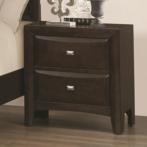 Cloverdale Cappuccino 2 Drawer Nightstand