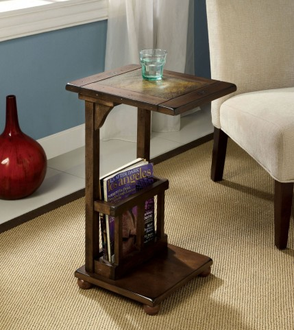 Wilcox Slate-Insert Side Table