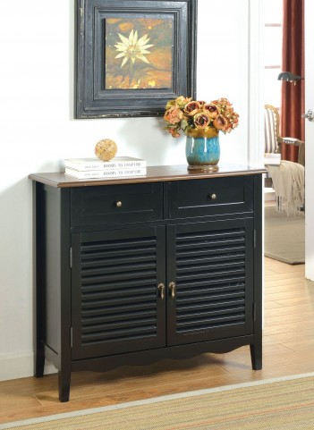 Oleida Cherry and Black 2 Door Cabinet